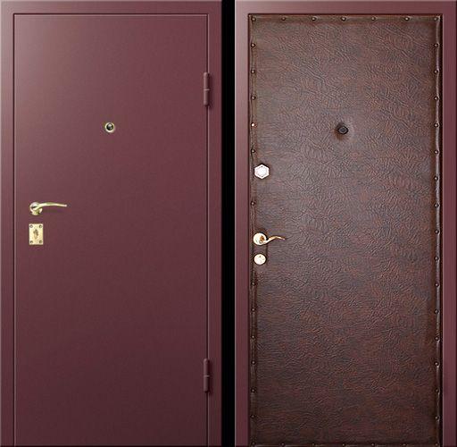 входная дверь железная эконом класса