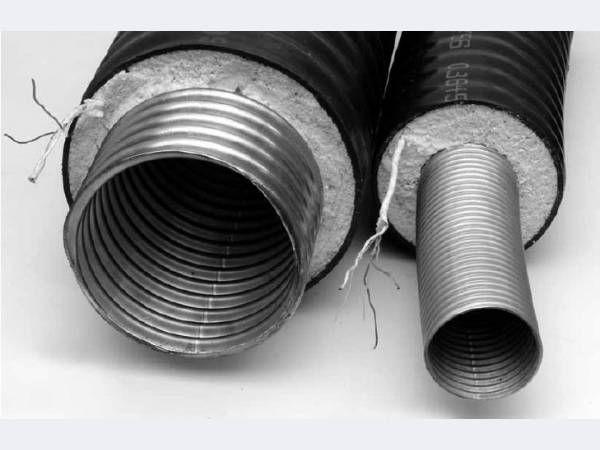Прокладка тепловых сетей из гибких предызолированных нержавеющих труб касафлекс