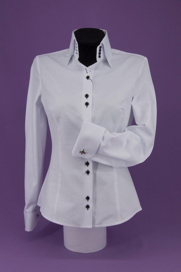 cc164f3cdac Рубашка женская манжет под запонку - Стильные женские блузки