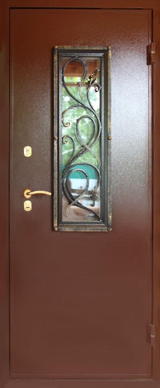 Дверь металлическая с окном