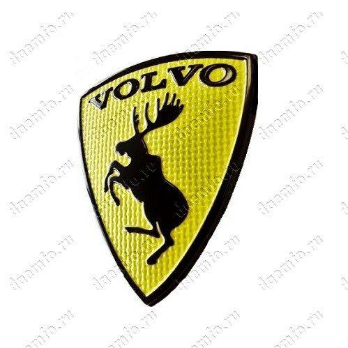 желтая эмблема volvo