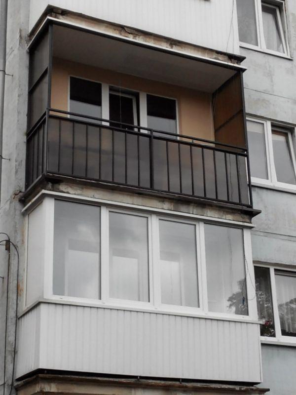 Ограждение балкона поликарбонат (м/п) - фасадная отделка бал.