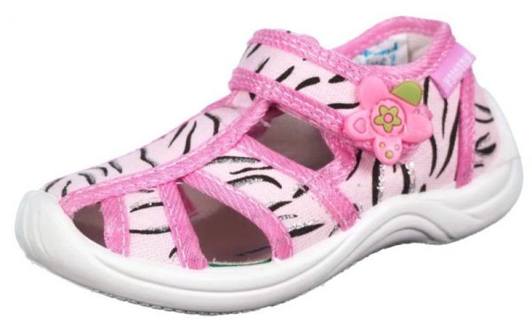 a69b7857a Модель: 121032-11 розовый Туфли летние ясельные, детские текстиль