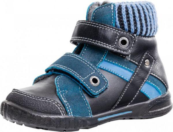 19e65e24f Модель: 152126-31 чёрный+синий Ботинки ясельные, детские натуральная кожа