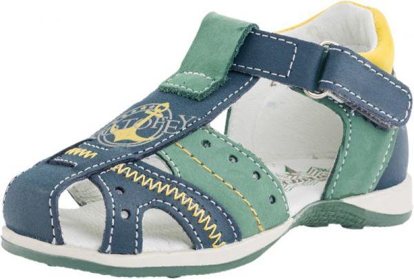 50235be8d Модель: 222079-22 синий+зелёный Туфли летние детские натуральная кожа