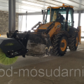 Road sweeper hydraulic brush for loader or tractor