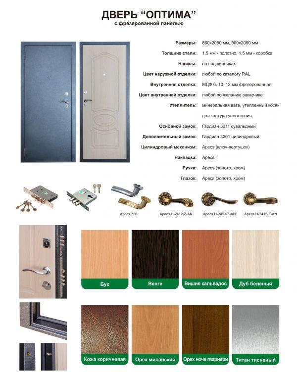 входная металлическая дверь с фрезеровкой